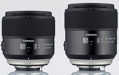 Tamron SP 35mm F/1.8 Di VC USD y SP 45mm F/1.8 Di VC USD