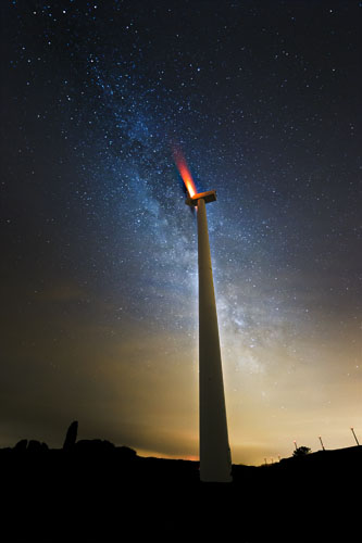 The Milky Way and the windmill