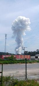 Explosión de una pirotecnia en Tui (Pontevedra)